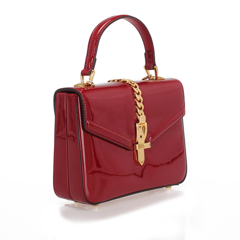 Sylvie 1969 Patent Leather Satchel Red - Bag Religion