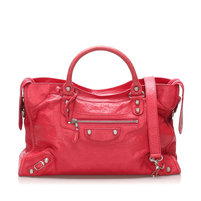 Motocross Giant First Leather Satchel Pink - Bag Religion