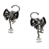 CC Ribbon Drop Earrings Silver - Bag Religion