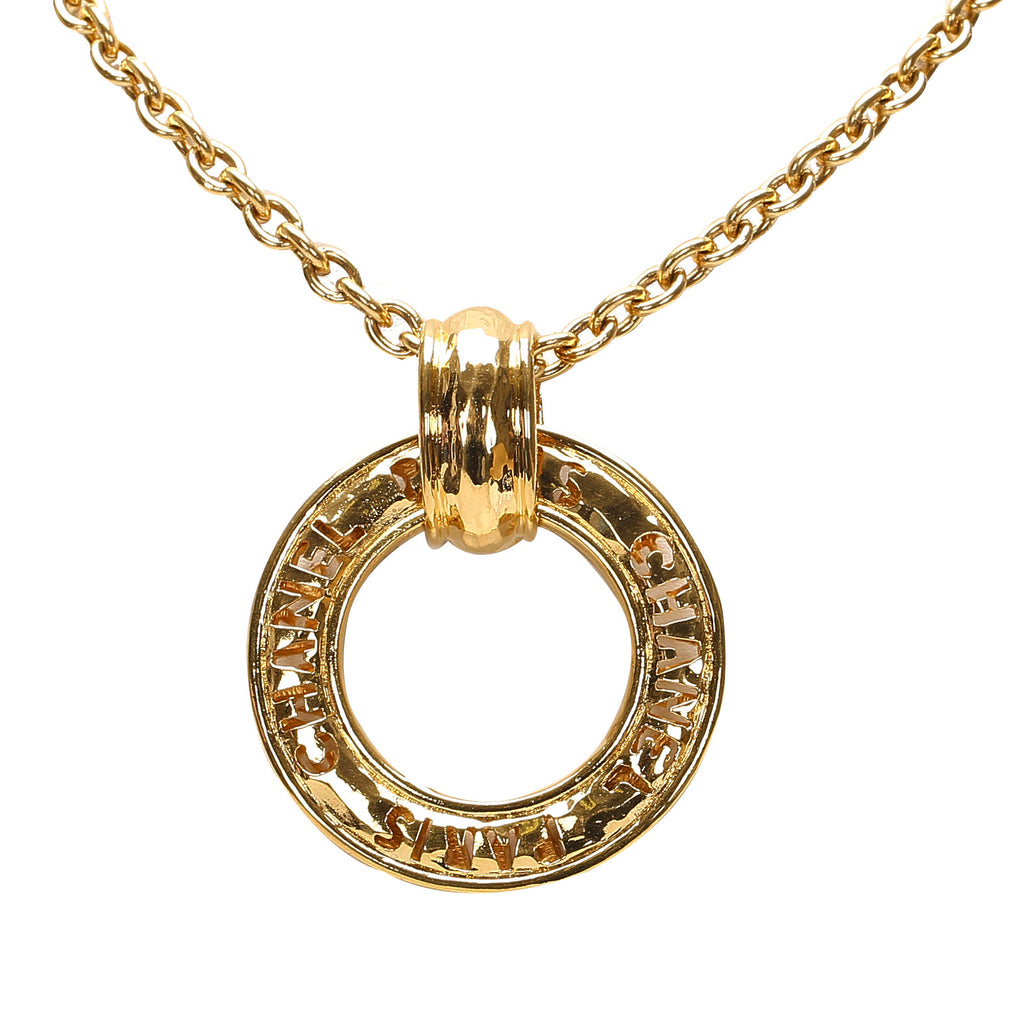 Ring Pendant Necklace Gold - Bag Religion