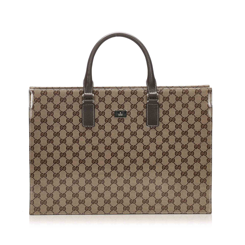 GG Crystal Business Bag Brown - Bag Religion