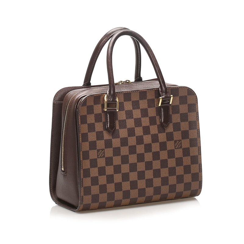 Damier Ebene Triana top handle bag