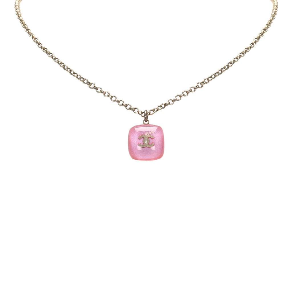 CC Pendant Necklace Pink - Bag Religion