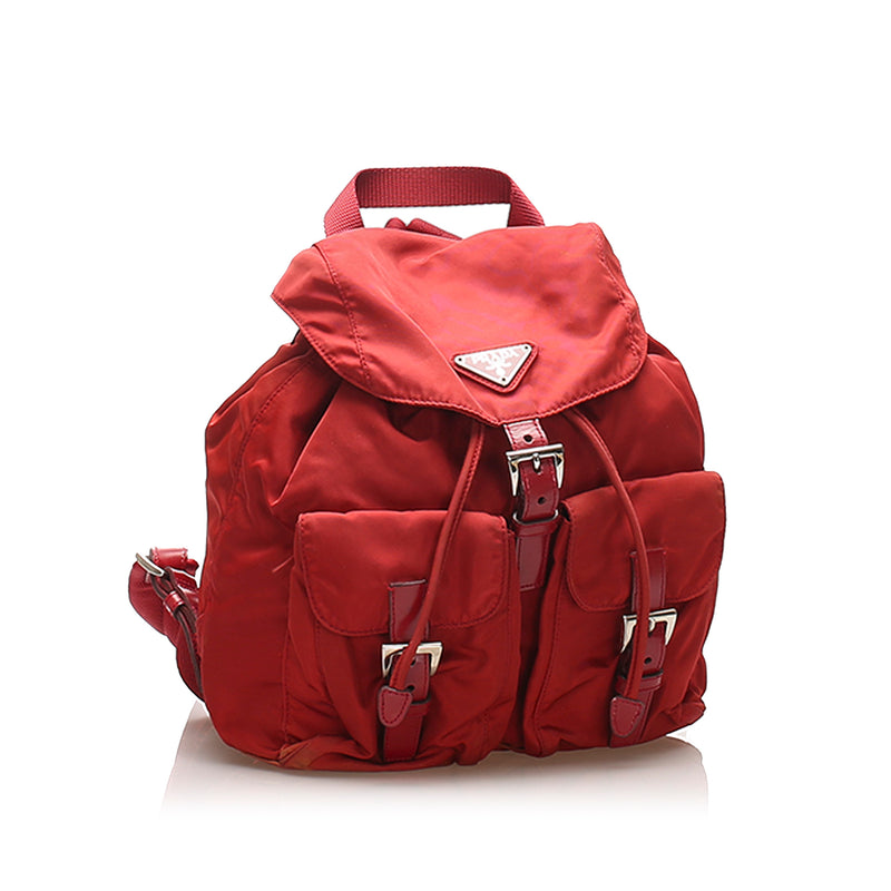 Tessuto Drawstring Backpack Red SHW