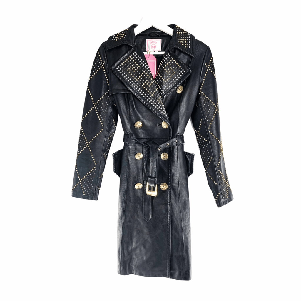 Versace for H&M Leather Trench Coat with Gold details