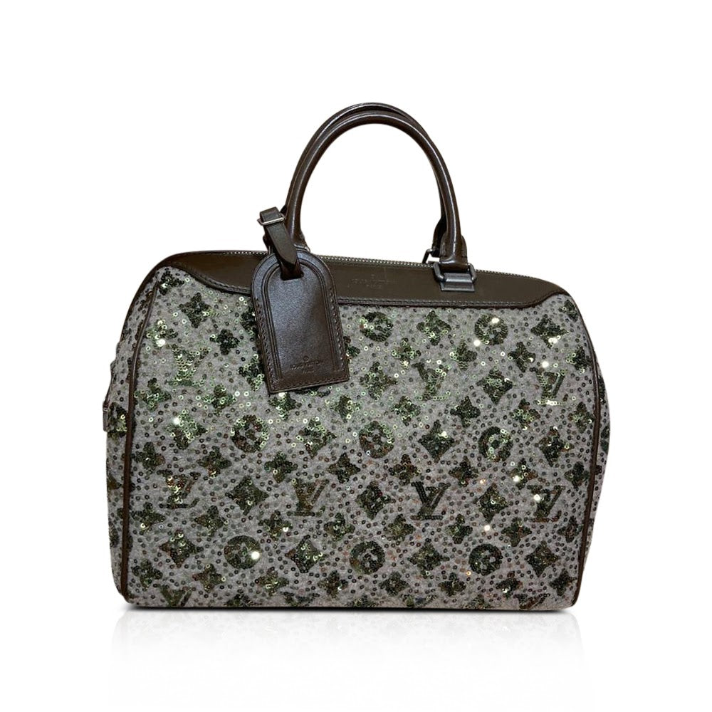 Limited Edition Sequin Monogram Sunshine Express Speedy Bag - Bag Religion