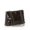 CC Chain Patent Leather Shoulder Bag Brown - Bag Religion