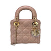 Mini Lady Dior Bag In Nude Pink With Light Gold Hardware