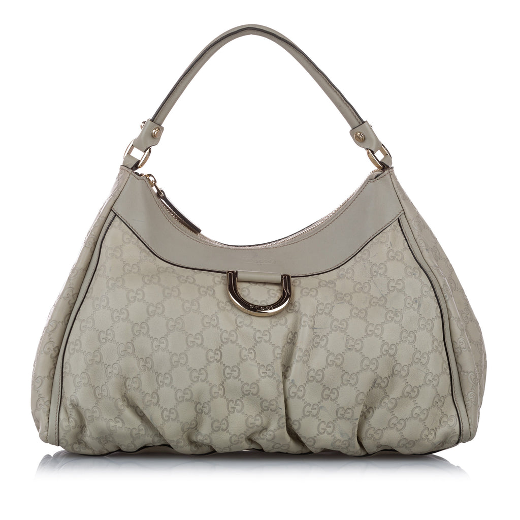 Guccissima Abbey D-Ring Shoulder Bag Gray - Bag Religion