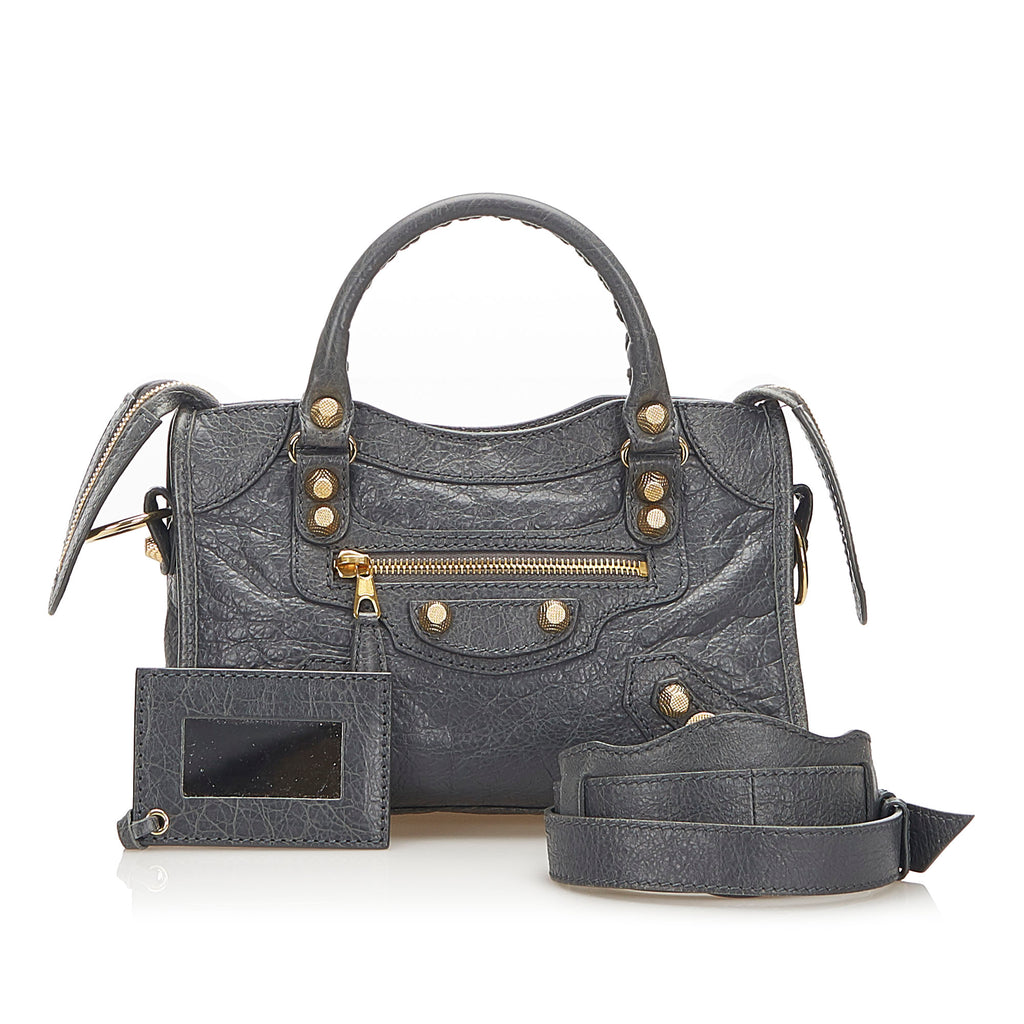 Motocross Classic Town Leather Satchel Gray - Bag Religion