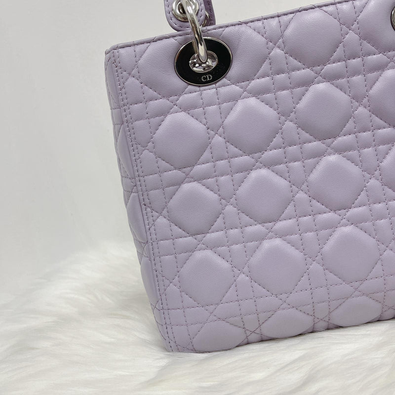 Lambskin Lady Dior Medium Bag in Lilac