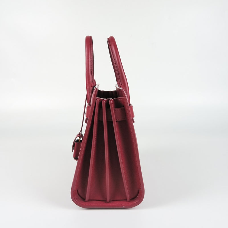 Nano Sac De Jour in Smooth Burgundy Leather