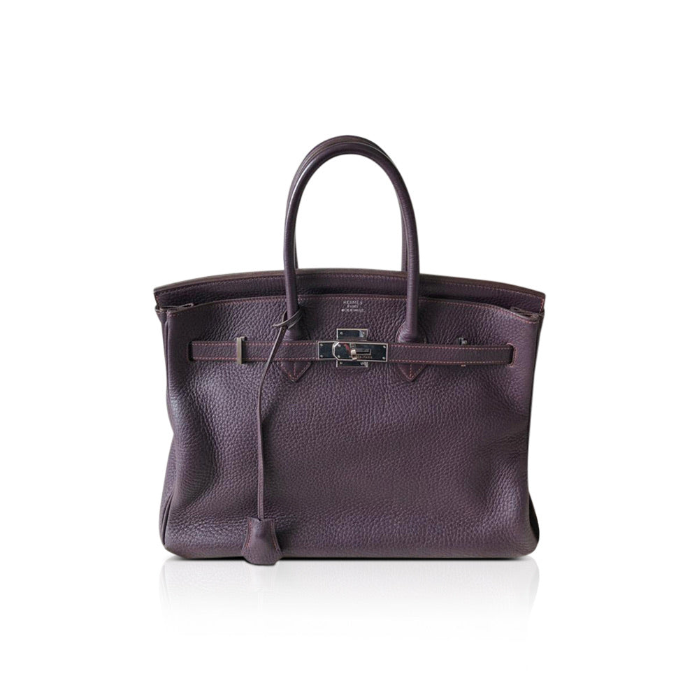 Birkin 35 Prune in Togo Leather with PHW - Bag Religion