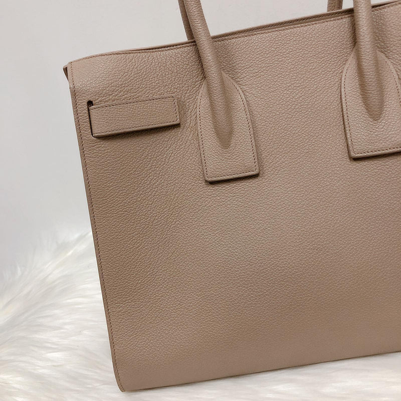 Yves Saint Laurent Classic Small Sac De Jour in Beige Grained Leather