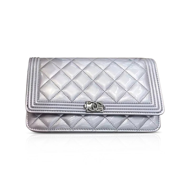 Boy WOC Light Purple Quilted Patent Leather with SHW - Bag Religion
