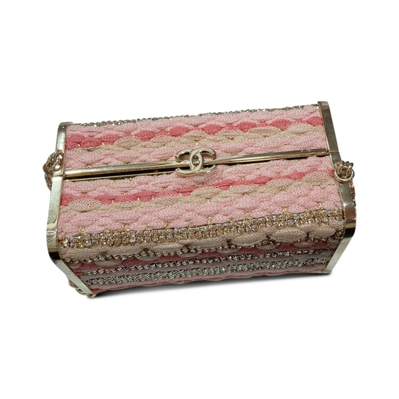 Box Minaudiere Shoulder Bag GHW Lambskin, Tulle, & Crystal Limited Edition - Bag Religion