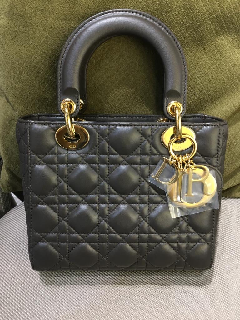 Cannage Lambskin Lucky Badges My Lady Dior Black Lambskin GHW