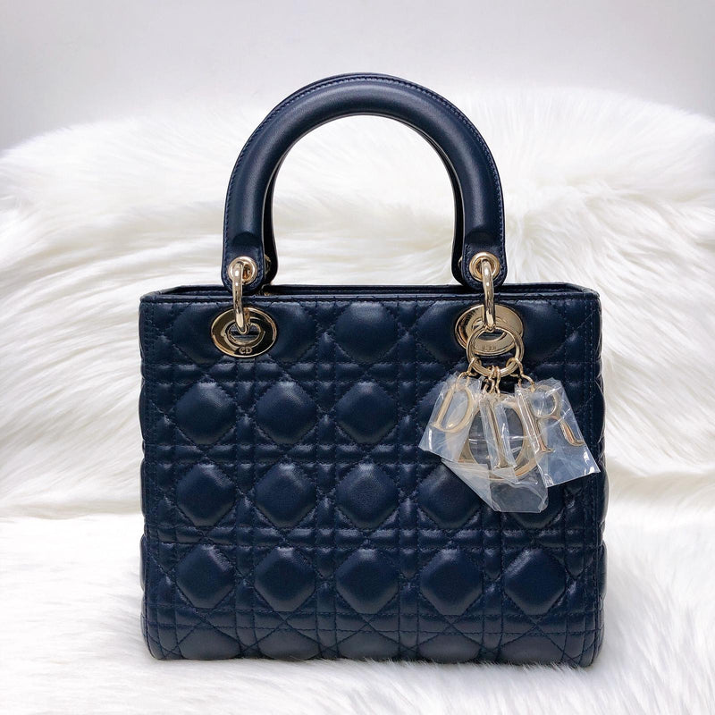 Cannage Lambskin Lucky Badges My Lady Dior Small - Bag Religion