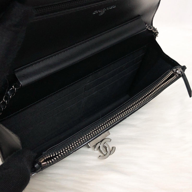 Golden Class Double CC WOC Black Patent Leather with SHW - Bag Religion