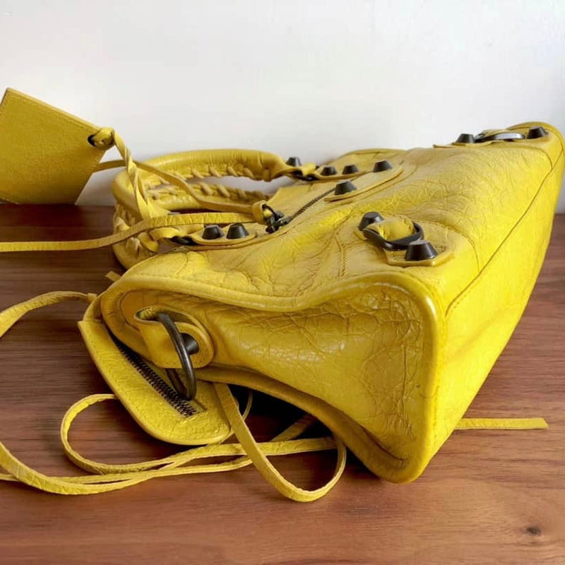Classic Mini City Bag, Yellow - Bag Religion