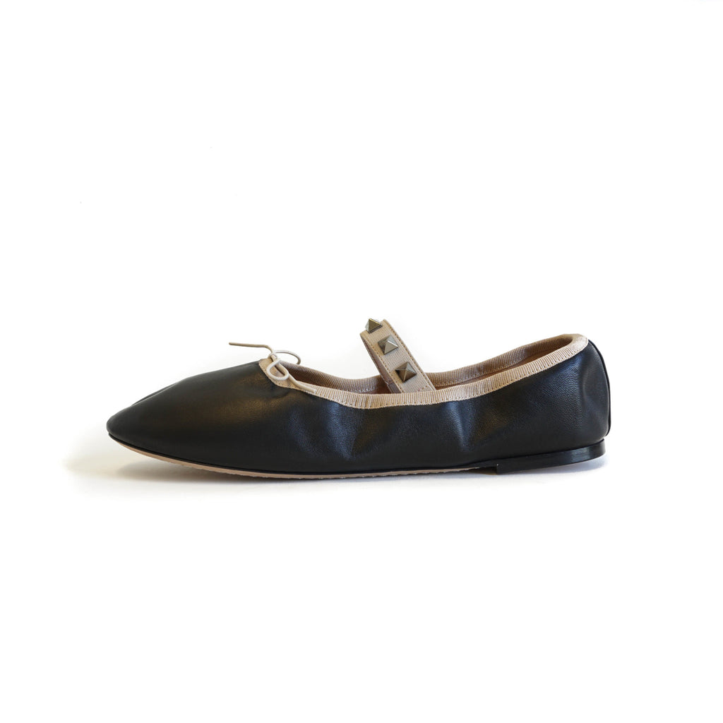 Rockstud Ballet Flats Black - Bag Religion