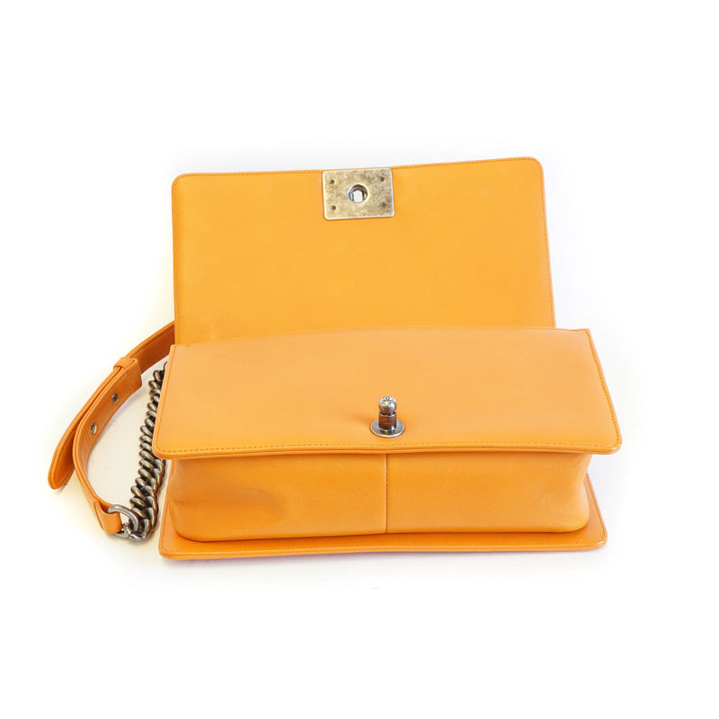 Old Medium Orange Boy Bag - Bag Religion