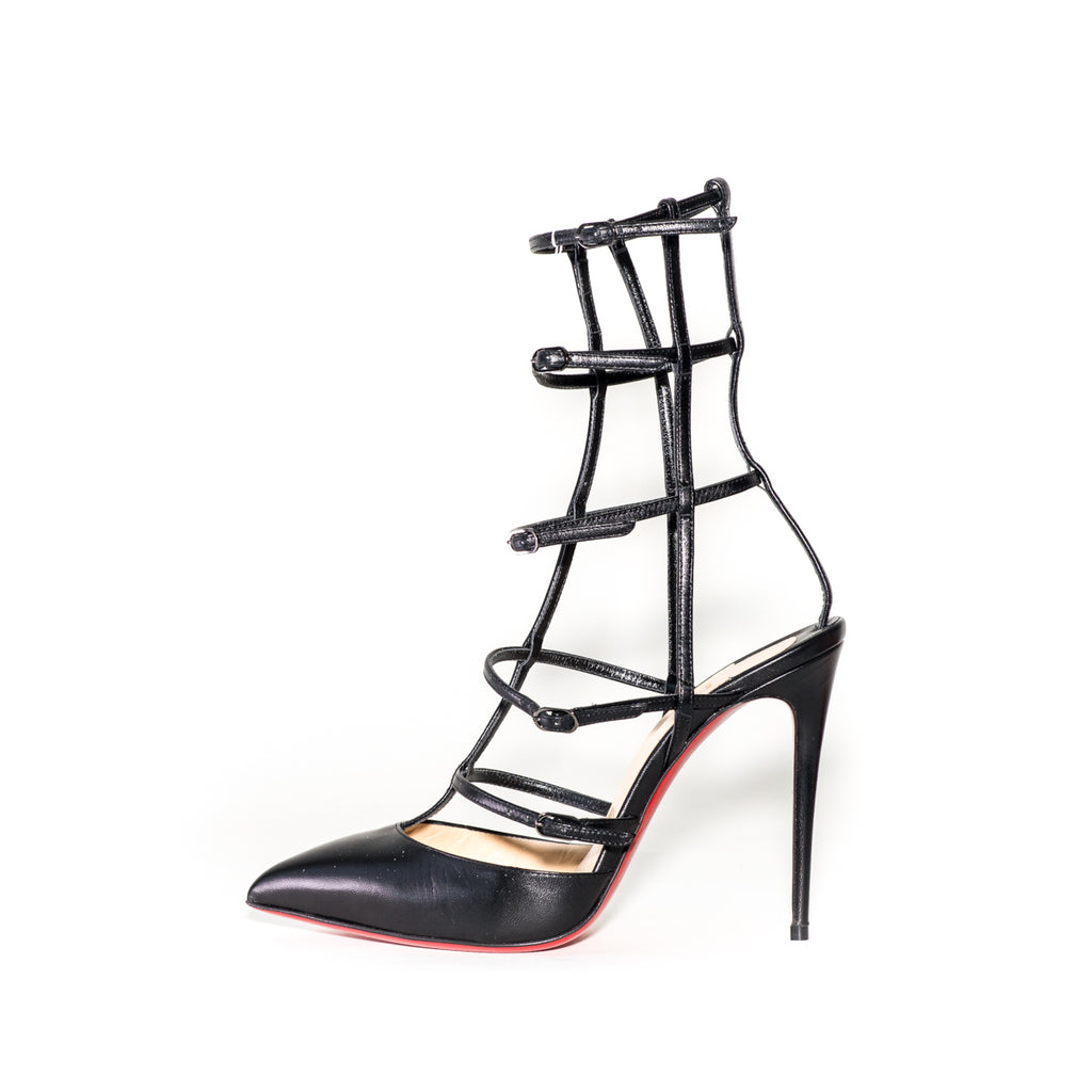 Kadreyana Cage 100 Heels Black - Bag Religion