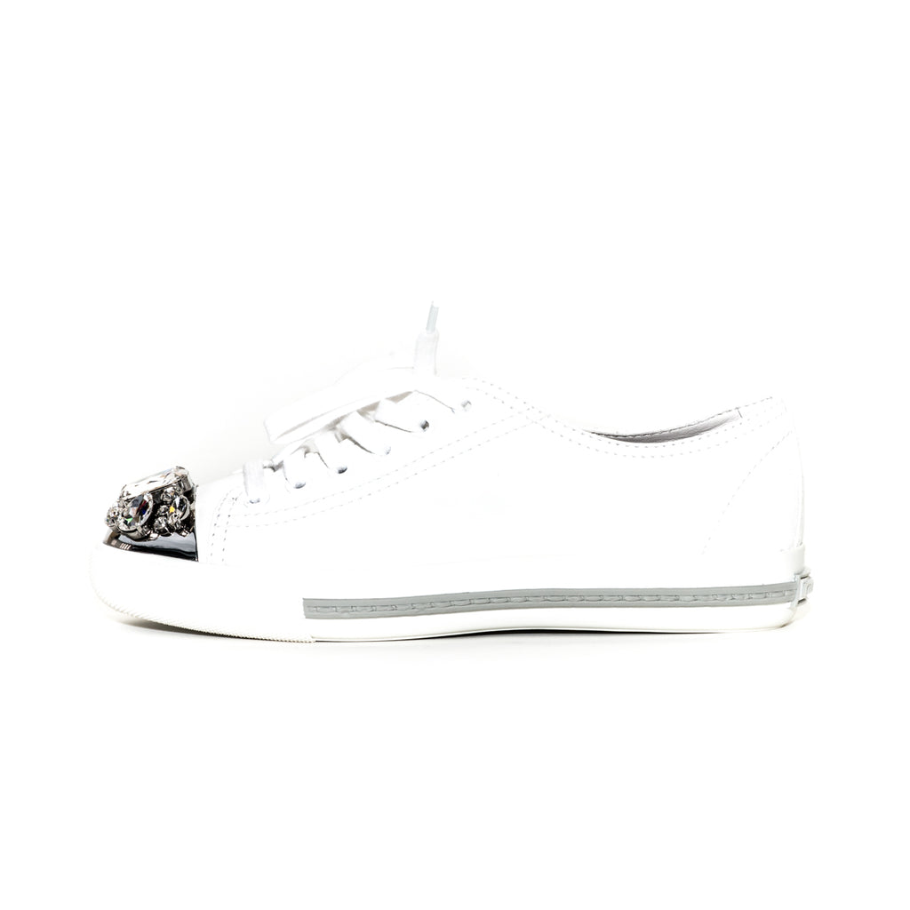 Cap Toe Leather Sneaker White - Bag Religion