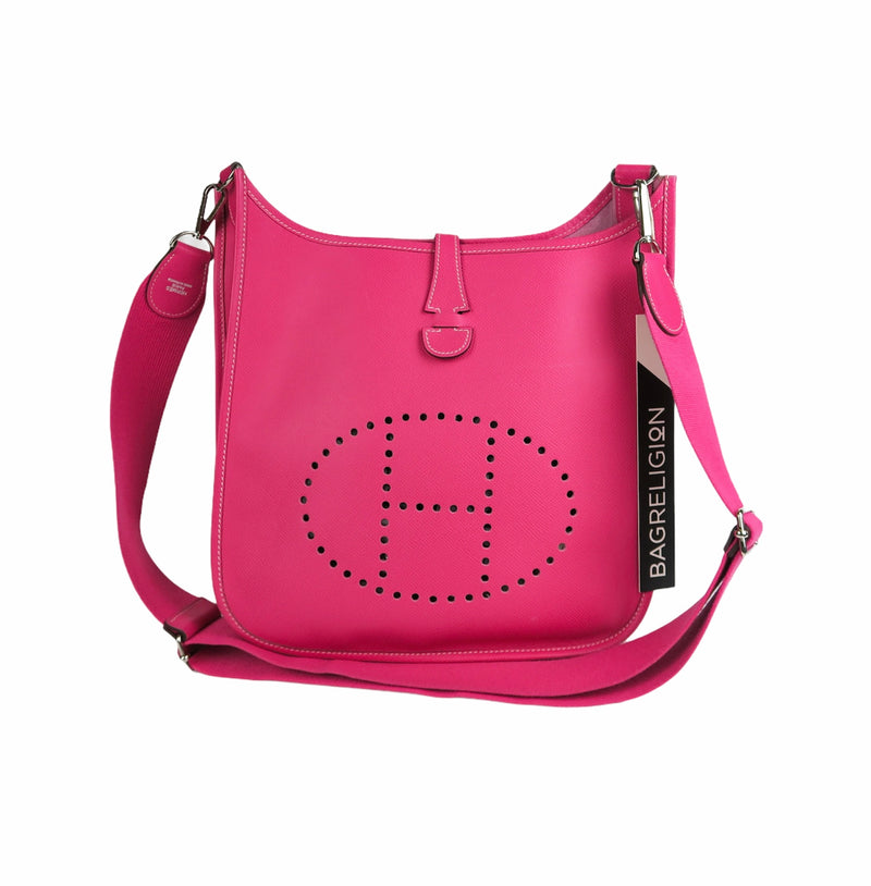 Rose Tyrien Epsom Leather Evelyn III PM Bag