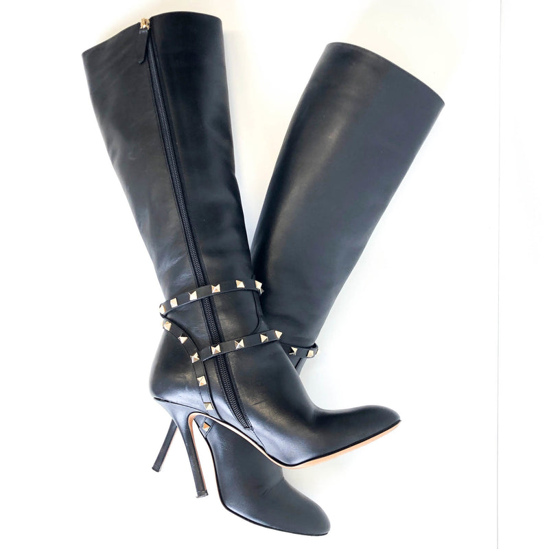 Rockstud Knee High Boot - Bag Religion