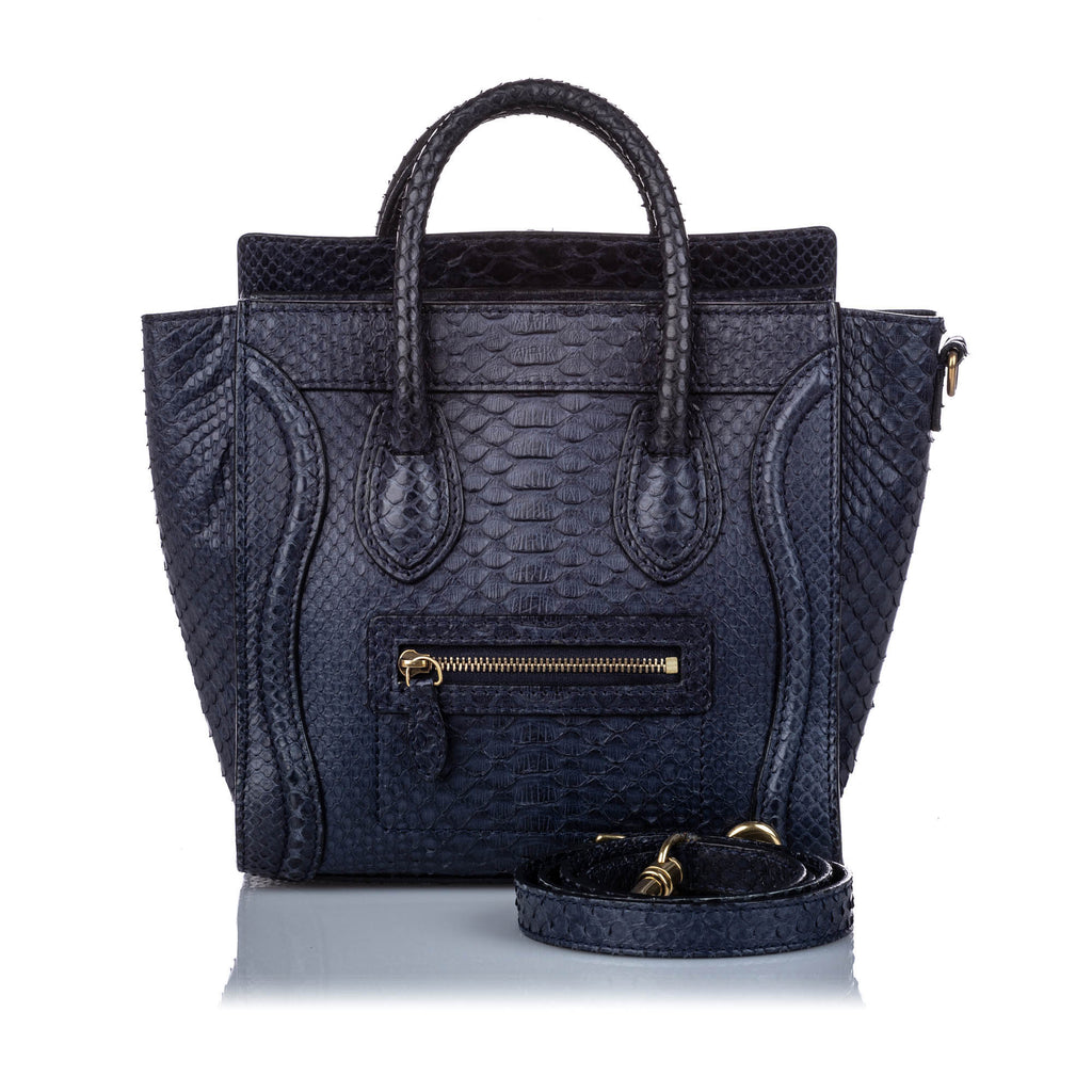 Python Nano Luggage Satchel Blue - Bag Religion