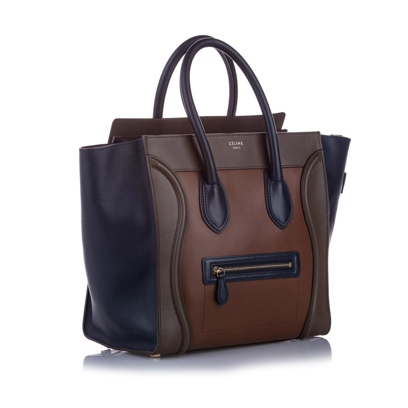 Luggage Leather Tote Bag Brown - Bag Religion