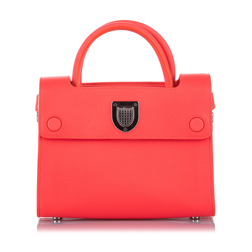 Diorever Leather Satchel Orange - Bag Religion