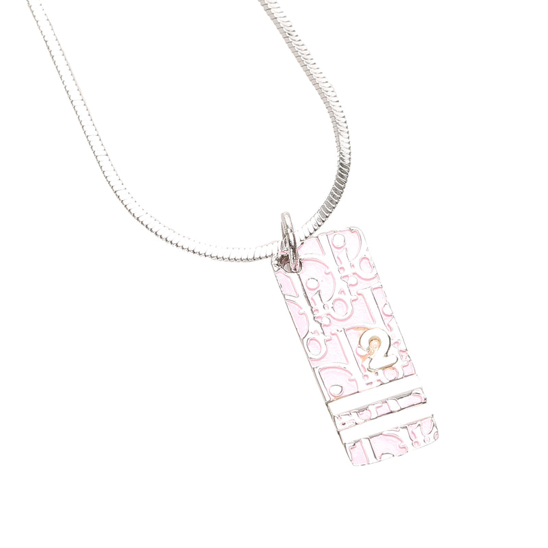 Dior Oblique Trotter Pendant Necklace Pink - Bag Religion