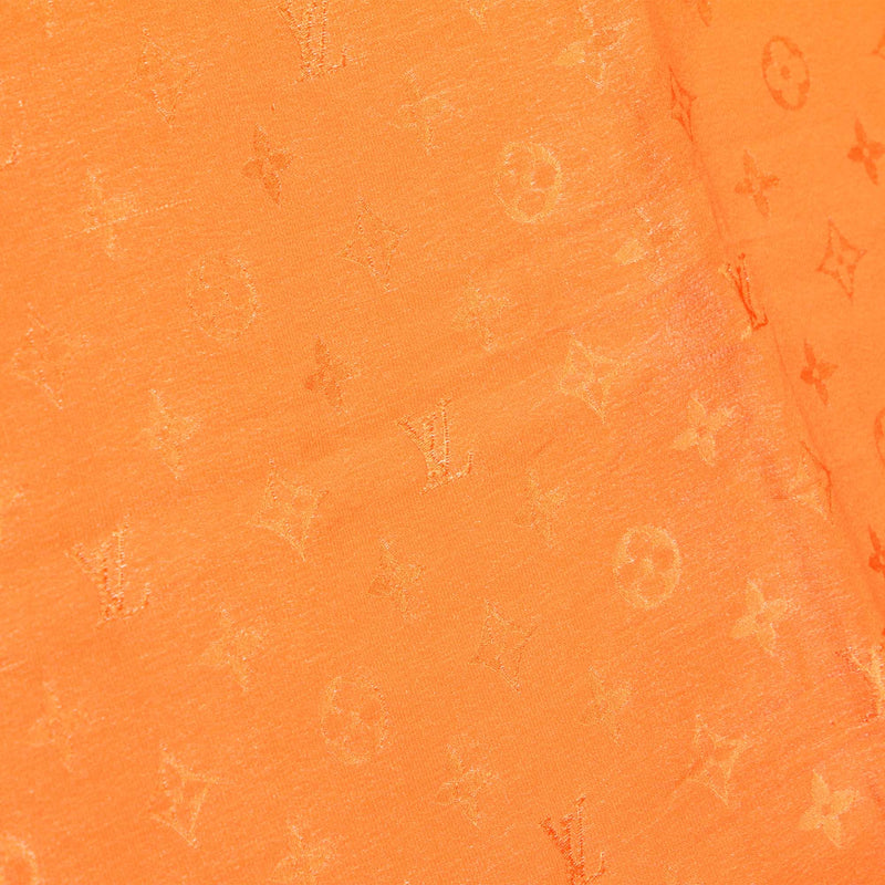 Orange Monogram Monaco Silk Scarf