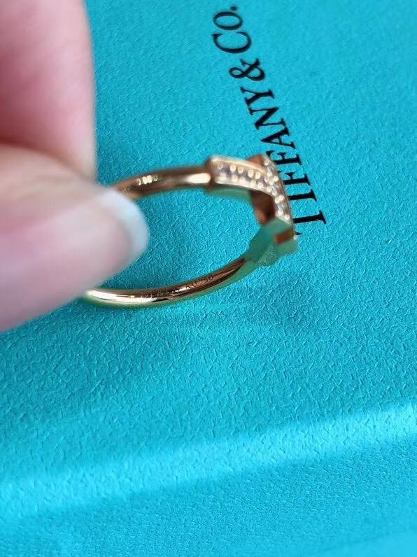 Tiffany T Gold Diamond Wire Ring