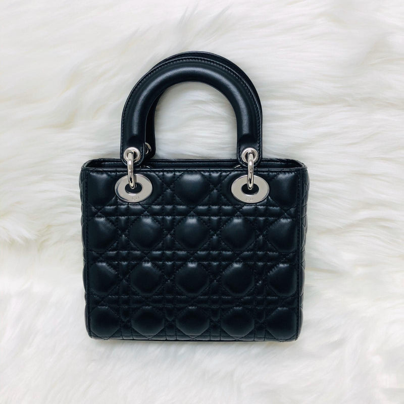 Cannage Lambskin Lucky Badges My Lady Dior Black