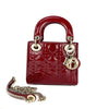 Large Boy Bag in Red Perforated Lambskin with SHW - Bag Religion