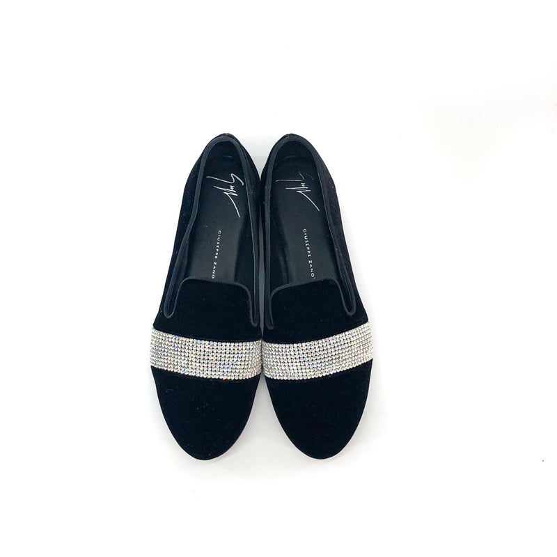 Dalila Loafer with Crystal Embellishing Black - Bag Religion