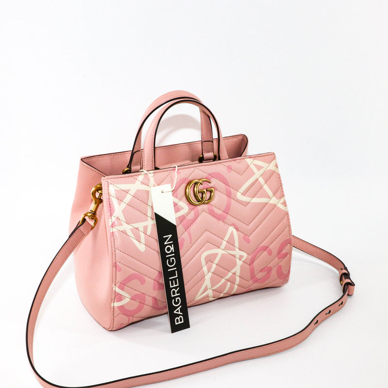 GG Marmont Tote Matelasse Gucci Ghost Small - Bag Religion