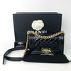Small Boy Bag in Black Patent Leather with Shiny GHW - Bag Religion
