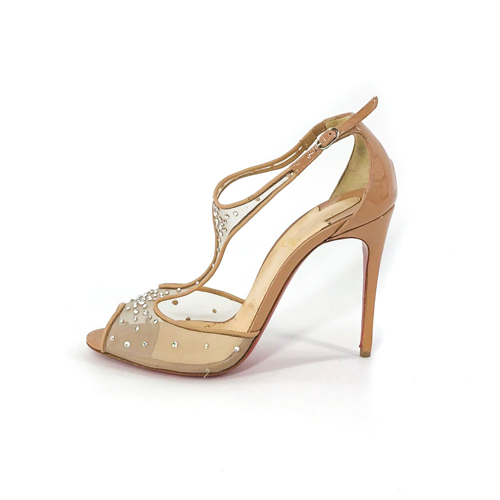 Patinana Strass Nude Sandals - Bag Religion