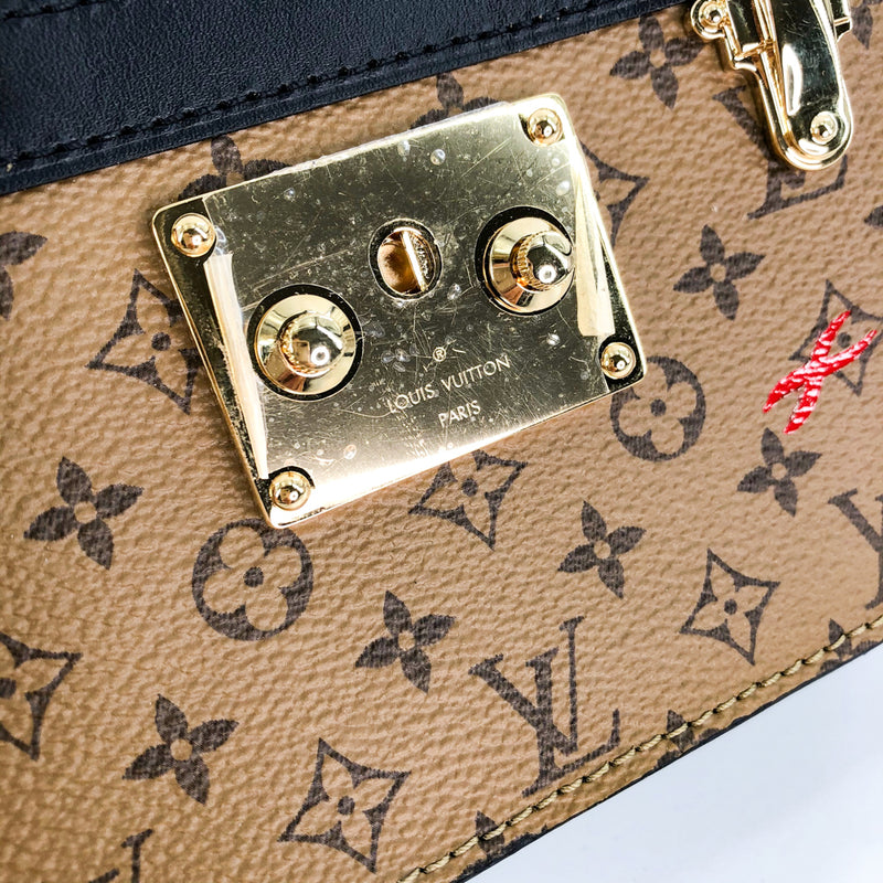 Reverse Monogram Trunk Clutch - Bag Religion