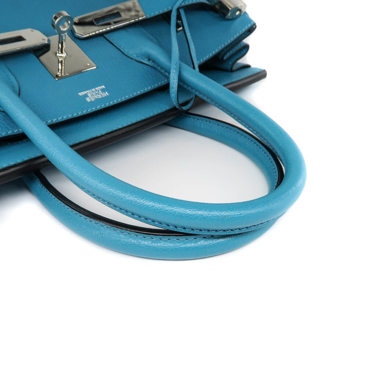 Birkin 30 Turquoise in Fjord Leather PHW - Bag Religion