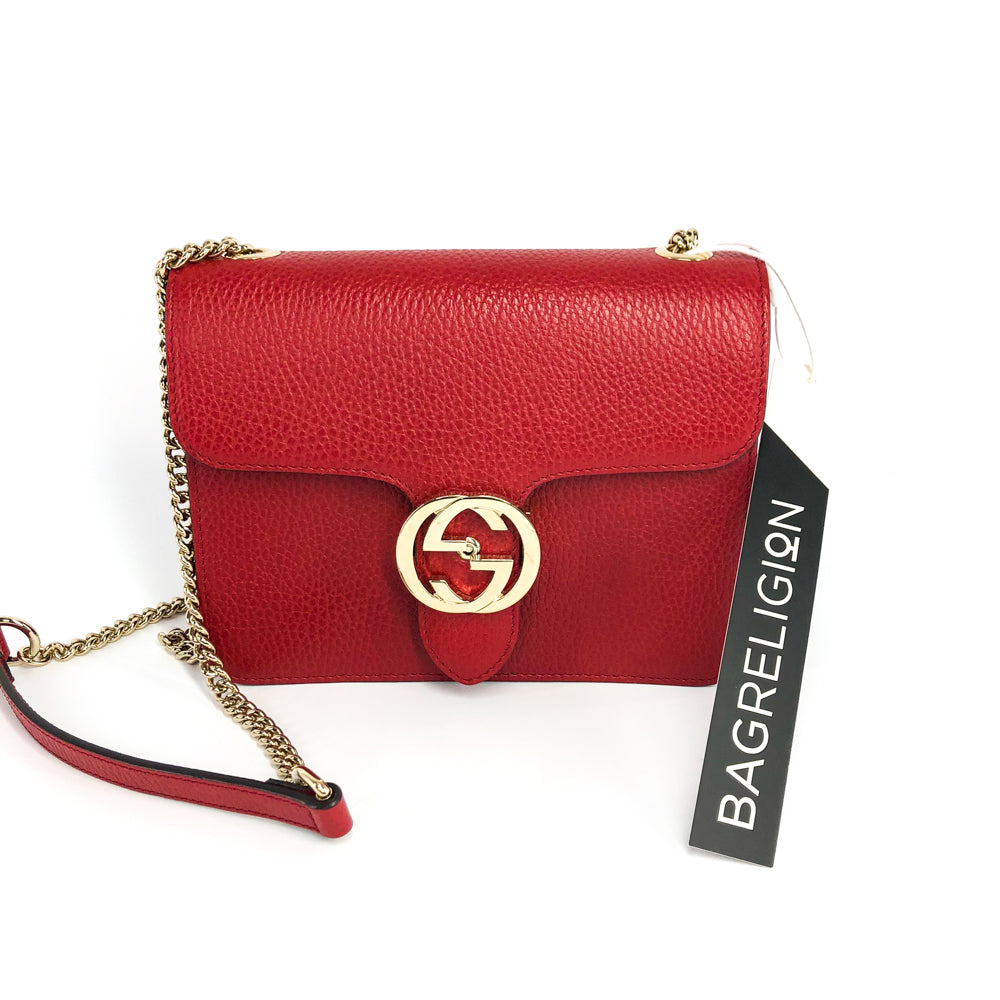 Interlocking GG Calfskin Leather Crossbody Bag with GHW - Bag Religion