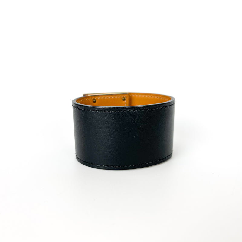 Swift Leather Kelly Dog Bracelet Black