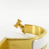 White Clic H Bracelet in Gold Plated Enamel Bracelet Size PM - Bag Religion