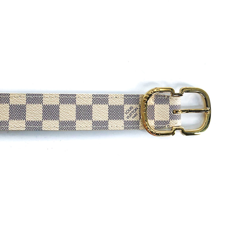 Mini 25mm Belt in Damier Azur - Bag Religion