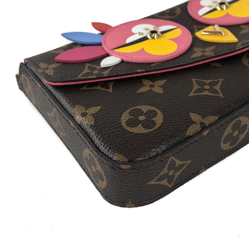 Pochette Felicie Chain Wallet Lovely Birds Design with Gold Hardware - Bag Religion