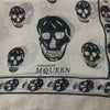 Silk Skull Scarf in White and Gray - Bag Religion